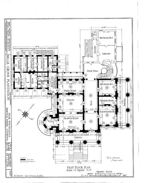 Antebellum Floor Plans | floor plans belle grove plantation mansion white castle