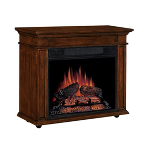 electric fireplace logs lowes shop style selections 23 quot transitional all in one electric
