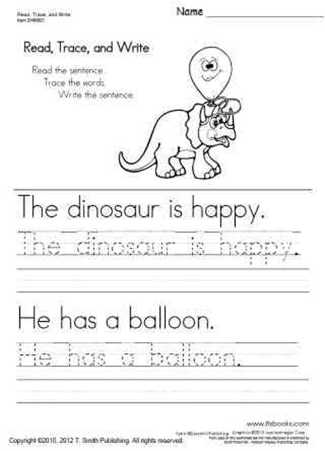free printable tracing sentences worksheets free handwriting worksheets read trace and write my