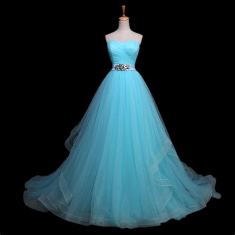Light Blue Wedding Dress by Beaded Sashes Vestido De Noiva Light Blue