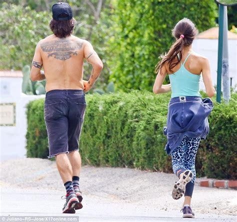 helena vestergaard born anthony kiedis goes jogging with girlfriend helena