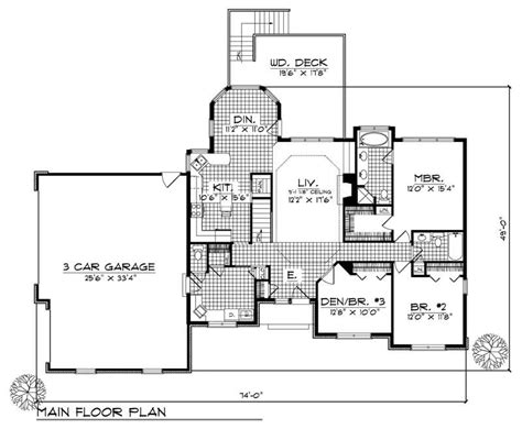 Ranch House Plan 3 Bedrms 2 Baths 1700 Sq Ft 101 1805 1700 Square Foot House Plans Ranch