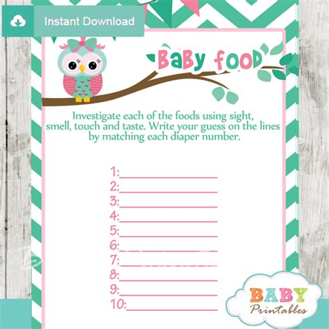 Baby Shower Baseball Theme Decorations Mint Green Amp Pink Owl Baby Shower Games D126 Baby