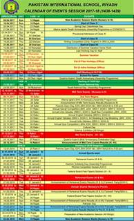 Calendar 2018 Ksa Academic Calendar Of Events 2017 2018 Pakistan