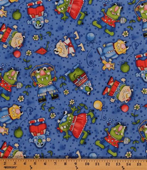 printable fabric by the yard cotton lil monster friends kids cotton fabric print by