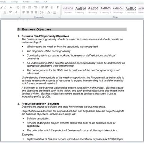 software scope document template best photos of project requirements exles project