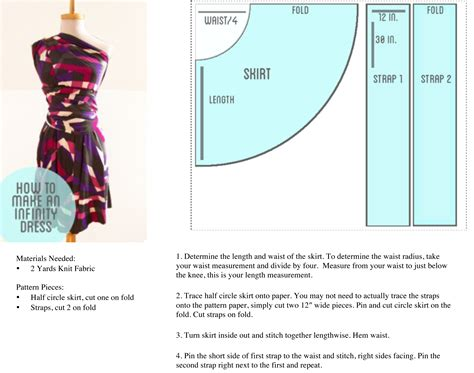 pattern making online tutorial how to make an infinity dress diy to do list pinterest