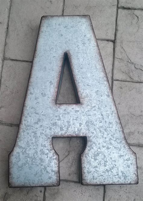 large metal letters x large metal letter zinc steel initial home room decor diy 1349