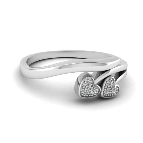 pave white promise ring in sterling silver