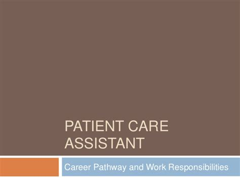 learning about patient care assistants