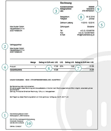 Musterrechnung Umsatzsteuer Musterrechnung Bei Inlandslieferungen Bzw Sonstigen Leistungen Im Inland Wts Steuerberatung