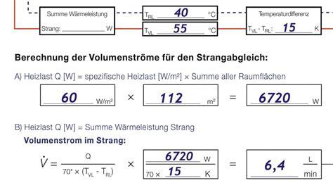 Hydraulischer Abgleich Einstellen by Arbeitshilfen F 252 R Den Statischen Hydraulischen Abgleich Sbz