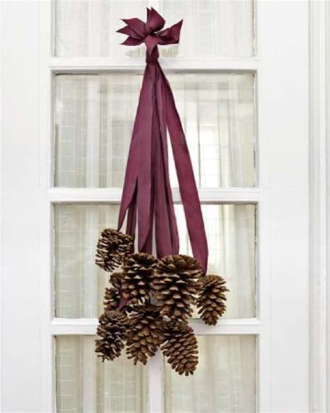 pinecone decorations pine cone door decor sweet paul magazine