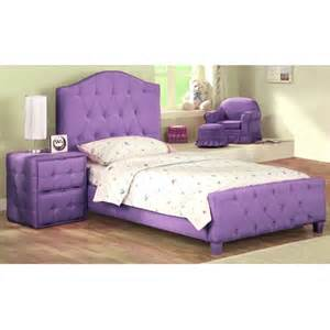 upholstered bed purple walmart