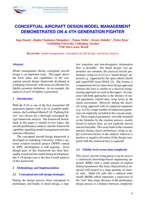 design management pdf conceptual aircraft design model pdf download available