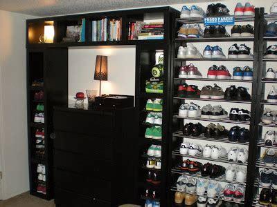 ikea shoe shelves lack wall of shoe shelves and storage