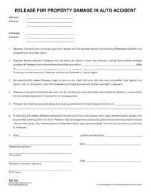 Property Damage Release Form Template by Release For Property Damage In Auto Nevada
