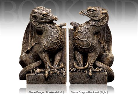 dragon bookends collectibles windstone stone dragon bookends