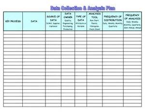 Plan Collection photos of data strategy template data collection plan sample
