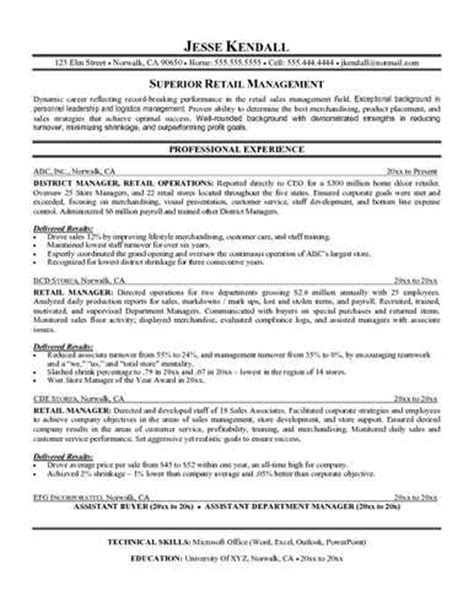 Retail Supervisor Resume by Sle Retail Supervisor Resume Resume Sles