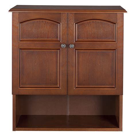 elegant home martha mahogany bathroom wall cabinet with 2