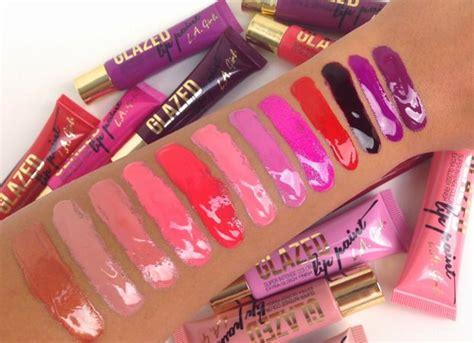 Harga La Lip Paint la glazed lip paint swatches l r gleam whisper