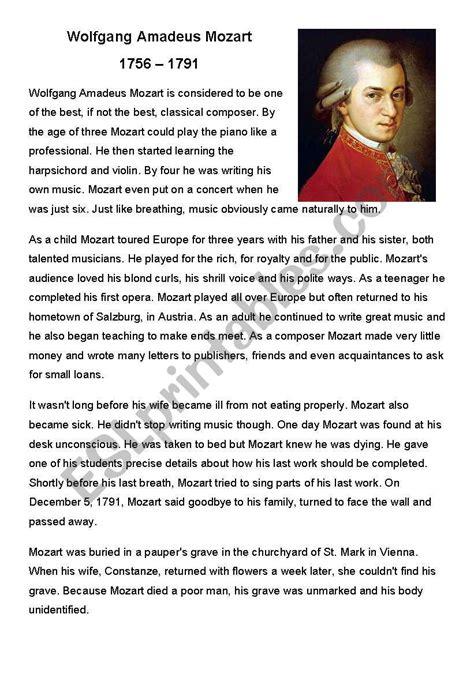 mozart biography questions mozart worksheet adriaticatoursrl