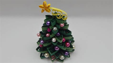 tutorial quilling christmas how to make a 3d quilling christmas tree diy tutorial