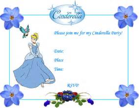 cinderella invitation template invitation template