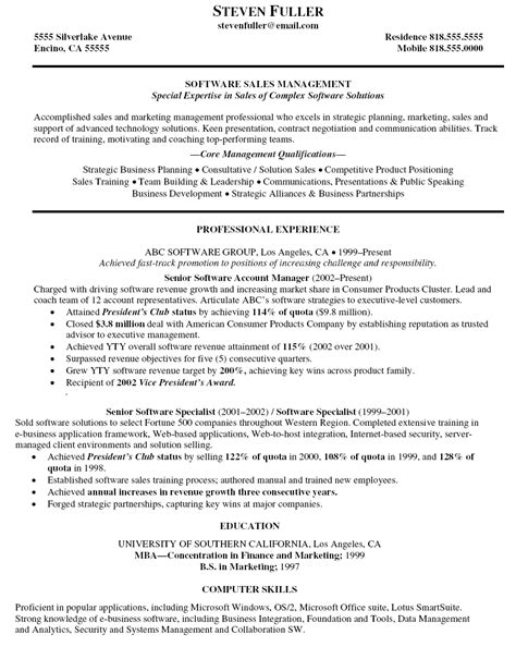 Business Account Manager Sle Resume by Resume For Account Executive Sales