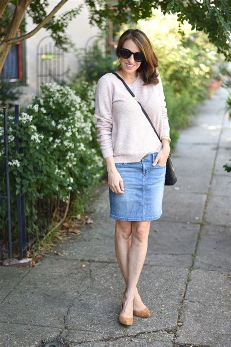 5 ways to dress up a denim skirt glitter guide