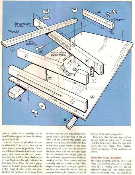 sle blueprints crosscut sled plans woodarchivist