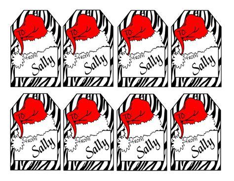 printable animal gift tags printable personalized zebra print christmas gift tags animal