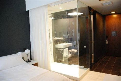 glass wall between bedroom and bathroom why hotels have glass wall bathrooms quora