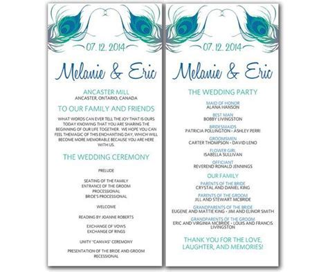 Wedding Program Template Word E Commercewordpress Program Template Microsoft Word