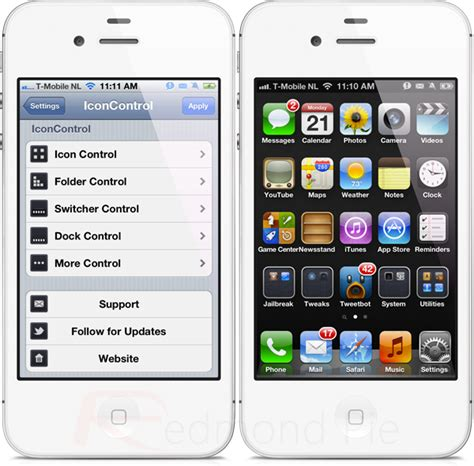 iphone settings layout iconcontrol for iphone allows you to alter your app icons