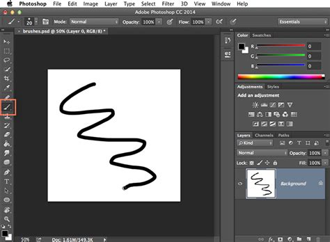 photoshop basics working with brushes page