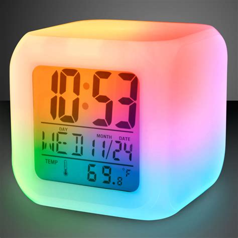 lights change color light up color change led digital alarm clock goimprints