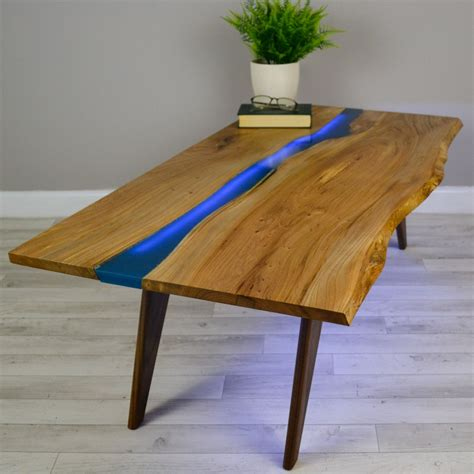 wood and resin table resin river coffee table on walnut base projects