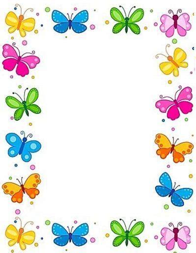 marcos para decorar hojas infantiles car 225 tulas para decorar trabajos infantiles de ni 241 as