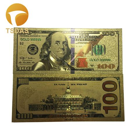 aliexpress under 1 dollar 10pcs lot colorful usa banknotes 100 dollar bills bank