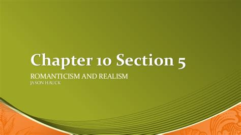 chapter 10 section 1 chapter 10 section 5 power point