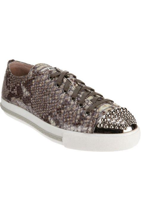 Miu Miu Belt Sparkling Sneakers Womens Designer Sneakers Luxury Sneakers For