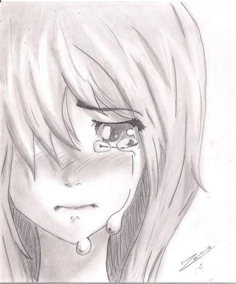len zeichnen sad anime pencil drawings