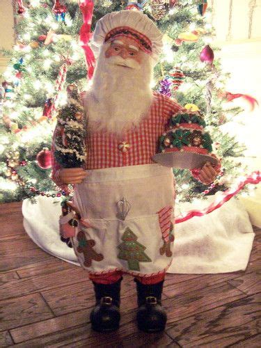 santa claus baker chef figure 3 feet tall with holiday