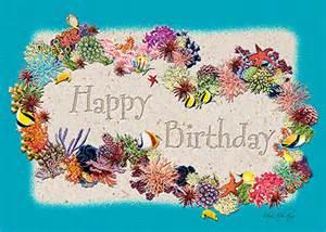 hawaiian happy birthday greeting card coral birthday lei