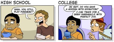 vs vs dork vs dweeb humor humor high school vs college as a