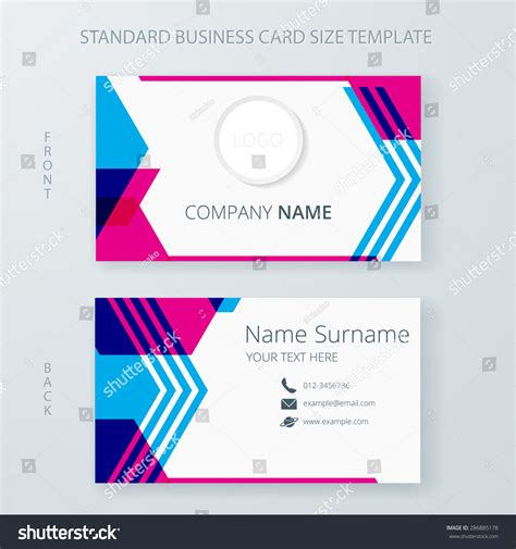 free name card template vector business card name card template modern stock vector