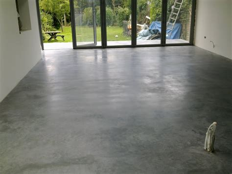 House Floor Natural Power Float Concrete Floors House Oxted
