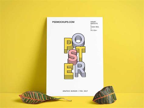 design poster mockup poster board without frame psd mockup psd mockups